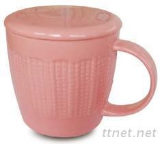附蓋陶瓷杯