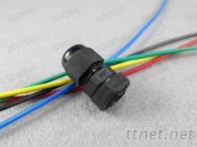 黑色PG7尼龍電纜接頭