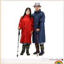 筱丹丹祥 高端尼龍雨衣, 時尚加長騎行服, 雨衣雨披