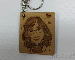 木製造型鑰匙圈/鑰匙圈/紀念品