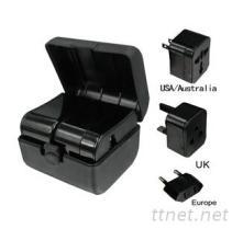 盒子式多国转换器 出国旅行转换插头 插座转换器批发