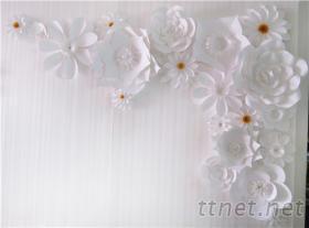 婚禮背景牆花藝裝飾