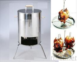 白铁双鸡桶子鸡炉 Stainless steel 2-chichen roaster