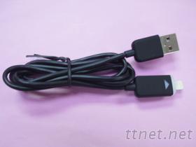 USB AM & I-PHONE 5 傳輸線 黑色