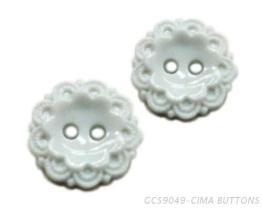 立體花形2孔鈕釦