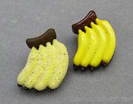 香蕉造型五彩亮蔥立腳鈕釦