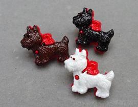 馬爾濟斯小狗造型組合式立腳鈕釦