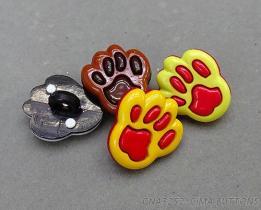 動物腳印造型組合式立腳鈕釦
