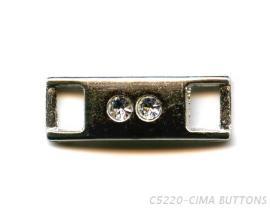 長條形黏鑽金屬流行配件