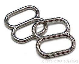 8字調整環(13MM)金屬材質-胸罩配件