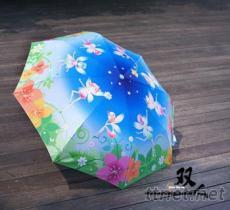 花仙子--三折自動開收傘