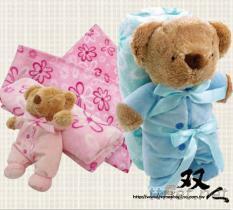 柔軟熊毛毯