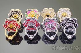手機指環支架 - 山茶花水鑽款