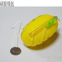 環保禮品矽膠香蕉形狀鑰匙包 超逼真的矽膠香蕉錢包