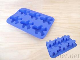 KN-0886矽膠蛋糕模, 公仔形狀蛋糕模, 食品級矽膠模具