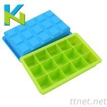矽膠冰格模具15格方形格子冰格模具食品級冰盒