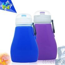 兒童外出旅遊用品折疊大肚水壺 便攜式兒童運動水壺