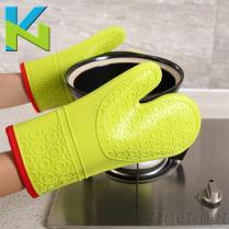 KN-矽膠隔熱手套加厚