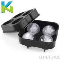 KN-四孔冰球模具球形冰格模具球形製冰盒