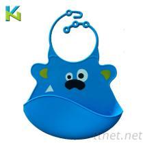 KN-硅胶婴儿口水兜|婴儿餵食器硅胶围兜