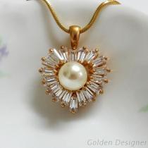 心型珍珠墜飾