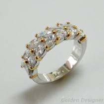 雙色電鍍時尚戒指