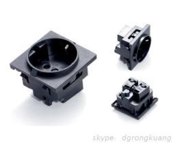 德国卡式插座 PDU嵌入式电源插座 欧规机柜电源插座