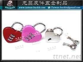 愛心鎖, 心鎖, 鎖頭, 密碼鎖, 金屬鎖