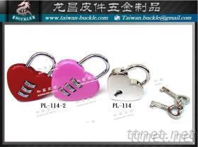 愛心鎖, 鎖頭, 密碼鎖, 金屬鎖