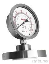 单法兰隔膜压力表(铁氟龙一般Lining型) DS300-TL