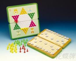 (折疊式彩色鐵盒) 磁鐵跳棋、象棋
