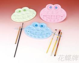 小青蛙水彩盘