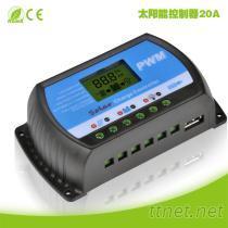 尊奧2015新款太陽能控制器12V/24V20A液晶LCD數顯USB5V快充