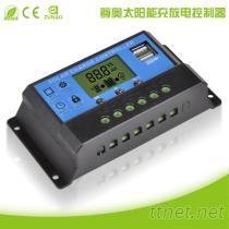 新款太陽能控制器12V/24V10A液晶LCD數顯USB5V快充