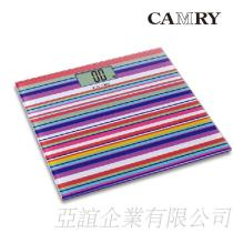 【CAMRY】繽紛亮彩數位體重計(輕薄型)