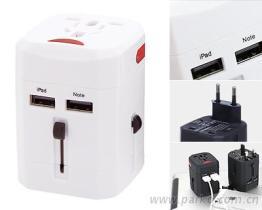 雙USB萬能旅行轉換插頭 (USB輸出: 2.5A)