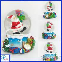 聖誕老人水晶球樹脂工藝品