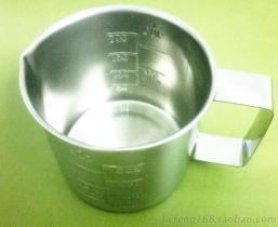 不鏽鋼量杯, SUS304量杯5000ML, 5L內外刻度量杯