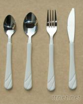 塑胶把手食具
