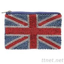 廠家直銷串珠小錢包 珠繡零錢包 國旗珠包 珠片包