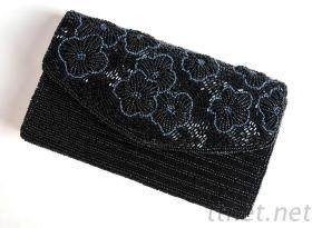 厂家直销珠绣包 串珠手袋 珠绣硬壳包 珠绣手拿包