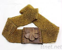 串珠腰带 米珠编织腰链 串珠弹性腰饰 米珠松紧腰带