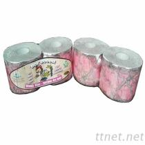 粉色迷彩印刷捲筒衛生紙