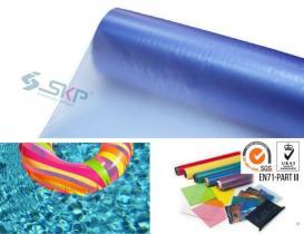 客製 PVC 塑膠布- 透明, 壓紋, 貼合膠布