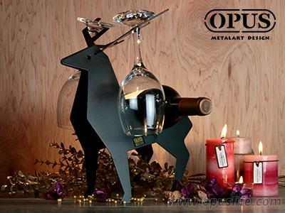 OPUS東齊金工 北國之歌 馴鹿酒架 客廳餐桌裝飾品