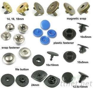 手縫磁釦, 磁釦, 拼布材料