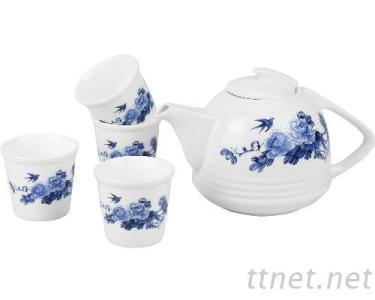 镁质瓷茶具组