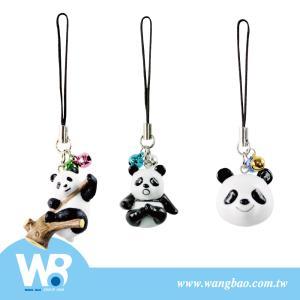 可爱熊猫公仔造型手机吊饰