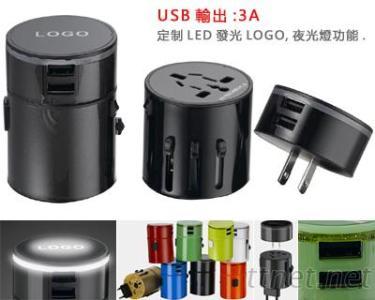 雙USB轉換插座 (USB 3A)