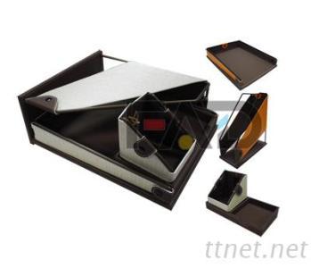 辦公文具收納組, 直立式公文架, 橫式公文架, 文具置物盒